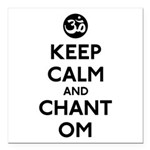 Keep Calm and Chant Om Square Car Magnet 3