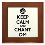 Keep Calm and Chant Om Framed Tile