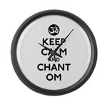Keep Calm and Chant Om Large Wall Clock