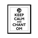Keep Calm and Chant Om Framed Panel Print