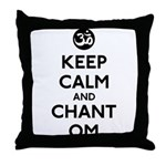Keep Calm and Chant Om Throw Pillow