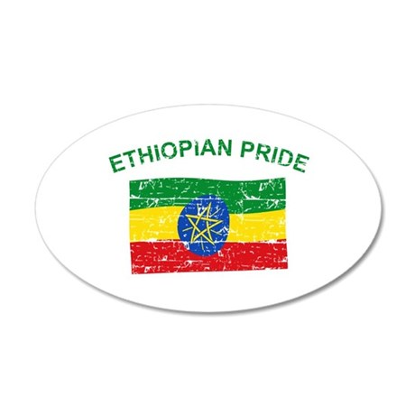 Ethiopian Pride 20x12 Oval Wall Decal
