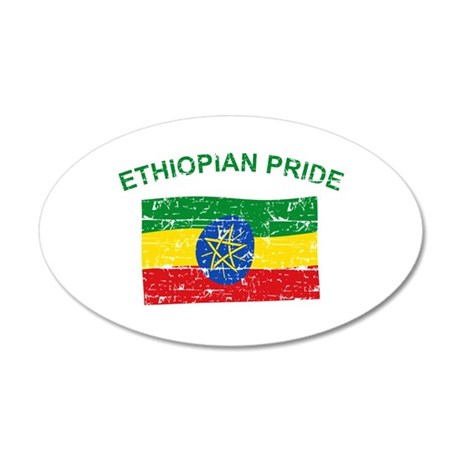 Ethiopian Pride 35x21 Oval Wall Decal