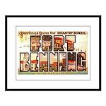 Fort Benning Georgia Large Framed Print