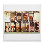 Fort Benning Georgia Tile Coaster
