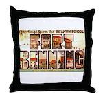 Fort Benning Georgia Throw Pillow