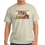 Fort Benning Georgia (Front) Ash Grey T-Shirt