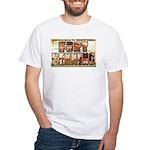 Fort Benning Georgia (Front) White T-Shirt