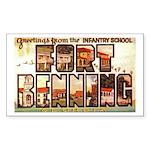 Fort Benning Georgia Rectangle Sticker
