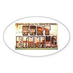 Fort Benning Georgia Oval Sticker