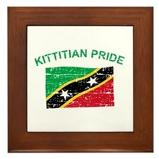 St. Kitts Pride Framed Tile