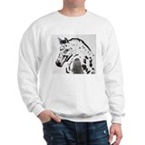 Leopard Appaloosa Colt pencil drawing Sweatshirt