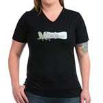 I Run For Wine Women's V-Neck Dark T-Shirt