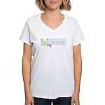 I Run For Wine Women's V-Neck T-Shirt
