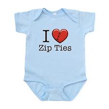 I love Zip Ties Onesie