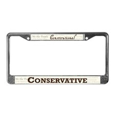 Constitutional Conservative License Plate Frame