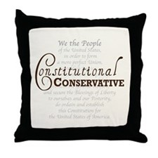 Constitutional Conservative Throw Pillow