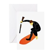 Skeet Surfin Greeting Card
