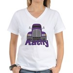 Trucker Kathy Women's V-Neck T-Shirt