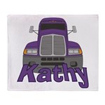 Trucker Kathy Throw Blanket