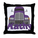 Trucker Kathy Throw Pillow