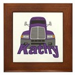 Trucker Kathy Framed Tile