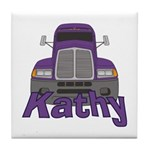 Trucker Kathy Tile Coaster