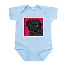 BLACK PUG Infant Bodysuit