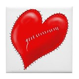 """Another Mended Heart"" Tile Coaster"