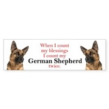 Shepherd Blessings Bumper Sticker