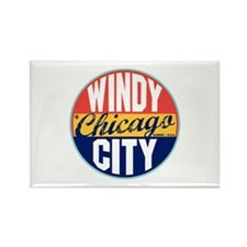 Chicago Vintage Label Rectangle Magnet