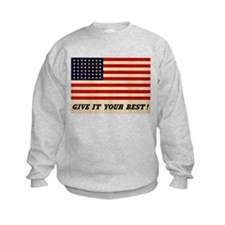 GIVE IT YOUR BEST WWII USA Flag Sweatshirt