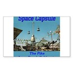 Space Capsule Sticker (Rectangle)