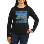 Space Capsule Women's Long Sleeve Dark T-Shirt