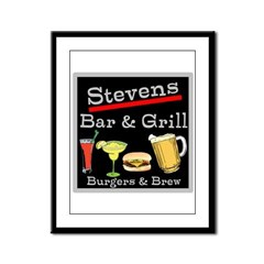 Personalized Bar and Grill Framed Panel Print