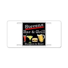 Personalized Bar and Grill Aluminum License Plate