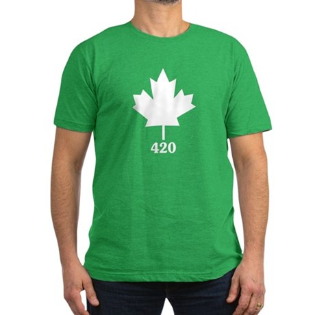 Canada 420 Mens Fitted Dark T-Shirt