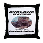 Cyclone Racer Throw Pillow