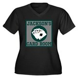 Personalized Card Room Women's Plus Size V-Neck Da