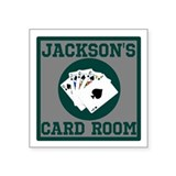 "Personalized Card Room Square Sticker 3"" x 3"""