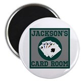 Personalized Card Room Magnet