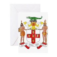 Jamaica Coat Of Arms Greeting Cards (Pk of 20)