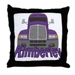 Trucker Kimberley Throw Pillow
