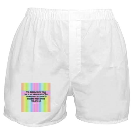 John 3:16 Rainbow Boxer Shorts