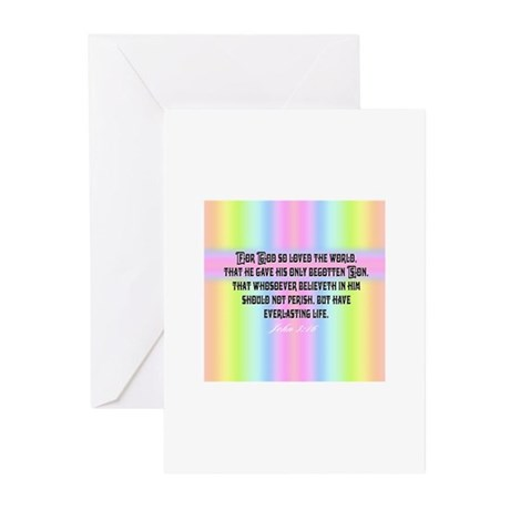 John 3:16 Rainbow Greeting Cards (Pk of 10)