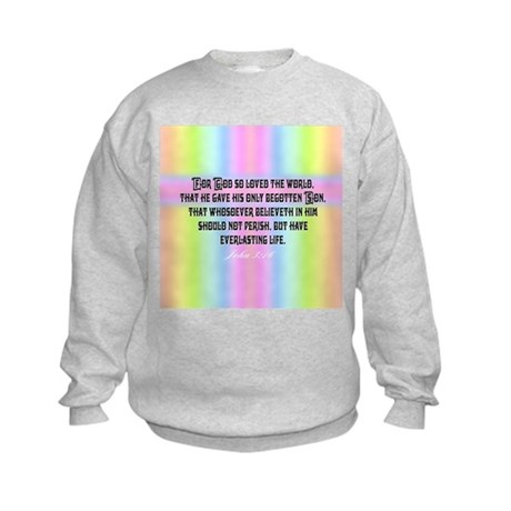 John 3:16 Rainbow Kids Sweatshirt