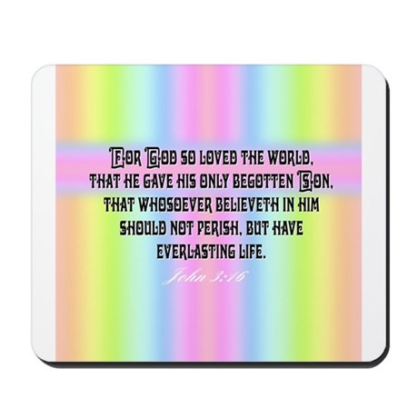 John 3:16 Rainbow Mousepad