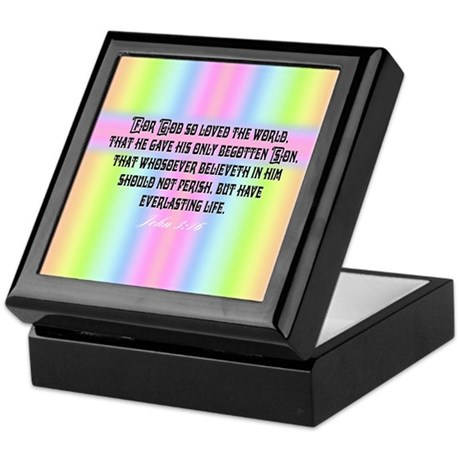 John 3:16 Rainbow Keepsake Box