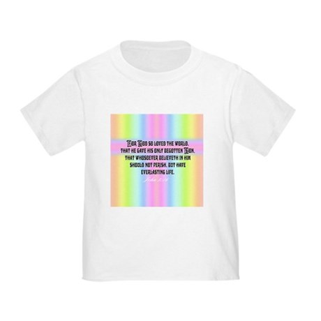John 3:16 Rainbow Toddler T-Shirt