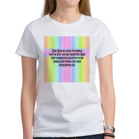 John 3:16 Rainbow Women's T-Shirt